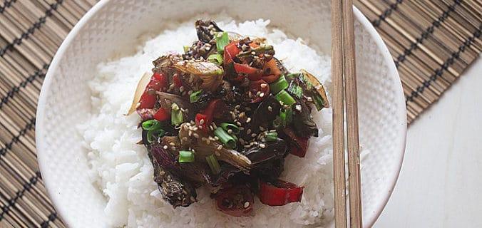 stir fry eggplant