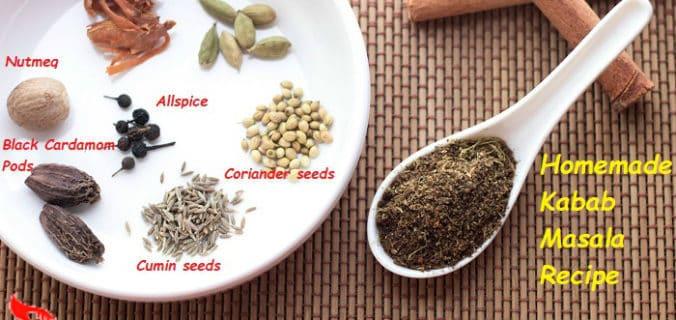 kabab masala powder recipe
